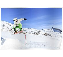 Snowboarding, Photographed in Breuil-Cervinia, Italy Poster
