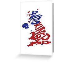 United Kingdom Typography Greeting Card