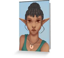 Woman Elf Greeting Card