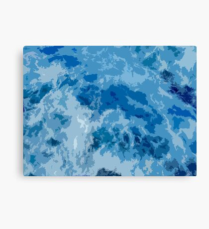 Abstract blue sea illustration Canvas Print