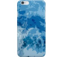 Abstract blue sea illustration iPhone Case/Skin