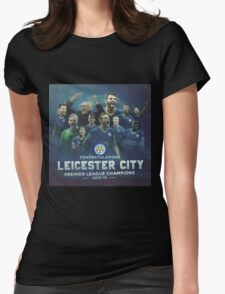 LEICESTER CITY F.C PREMIER LEAGUE CHAMPIONS 2015-2016 EPL Womens Fitted T-Shirt