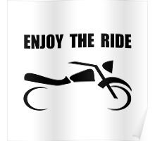 Enjoy Ride Motorcycle Poster