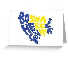 Bosnia and Herzegovina Typography Greeting Card