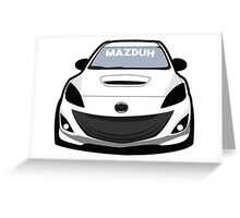 Mazduhhh Greeting Card