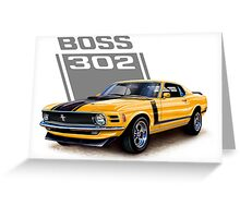 Ford Mustang,Classic Cars,American Muscle Cars Greeting Card