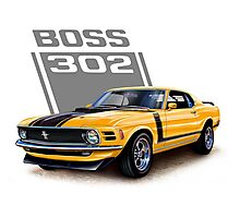 Ford Mustang,Classic Cars,American Muscle Cars Photographic Print