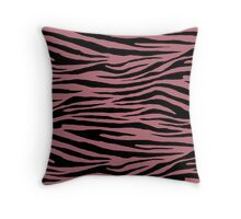 0584 Rose Gold Tiger Throw Pillow
