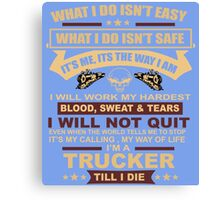 Trucker Canvas Print