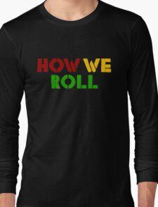 Reggae Weed Rasta Marijuana Cool T-Shirts Long Sleeve T-Shirt
