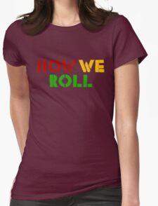 Reggae Weed Rasta Marijuana Cool T-Shirts Womens Fitted T-Shirt