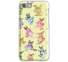 Easter bunny dancing. iPhone Case/Skin