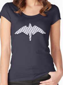 US Airforce style insignia pattern Diag version Women's Fitted Scoop T-Shirt
