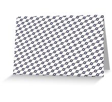 US Airforce style insignia pattern Diag version Greeting Card