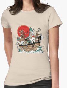 Miyazaki's Ark Womens Fitted T-Shirt