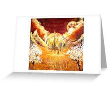 Gallifreyan landscape Greeting Card