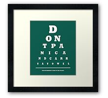 Eye Test Framed Print