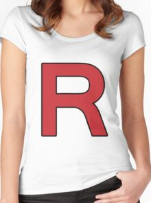 Pokemon - Team Rocket Logo Women's Fitted Scoop T-Shirt