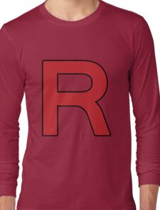 Pokemon - Team Rocket Logo Long Sleeve T-Shirt