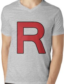 Pokemon - Team Rocket Logo Mens V-Neck T-Shirt