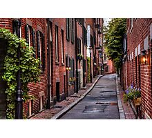 Beacon Hill Boston Photographic Print