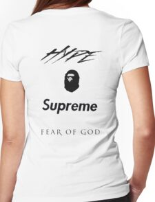 Hype Bape Supreme Fear of God Womens Fitted T-Shirt