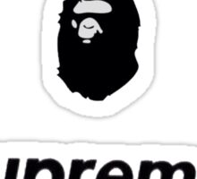 Hype Bape Supreme Fear of God Sticker