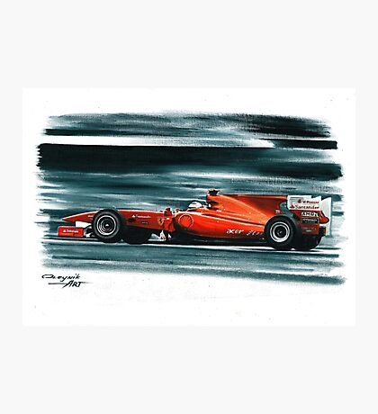 2010 Ferrari F10 Photographic Print