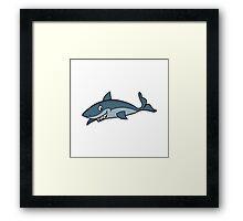 Shark Cartoon Framed Print