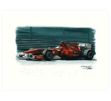"2010 Ferrari F10 ""800GP"" Art Print"