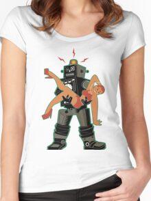 Robot-Romance Women's Fitted Scoop T-Shirt
