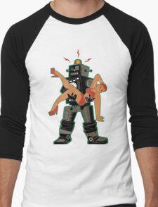 Robot-Romance Men's Baseball ¾ T-Shirt