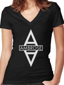 Asylum (white) Women's Fitted V-Neck T-Shirt