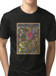 Psychedelic tiger Myth Folk Art Tri-blend T-Shirt