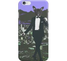 Frenchie in town iPhone Case/Skin