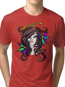 Pretty Horned Girl -BaH Tri-blend T-Shirt