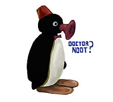 Doctor Noot - Pingu and Doctor Who Photographic Print