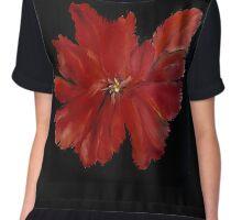Red Flower Shirt Chiffon Top
