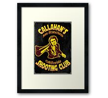 Callahan's Shooting Club Vintage Framed Print