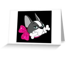 "French Bulldog ""Cherry"" Headshot Greeting Card"