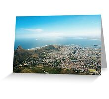 Cape Town from Table Mountain Greeting Card