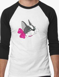 "French Bulldog ""Cherry"" Headshot Men's Baseball ¾ T-Shirt"
