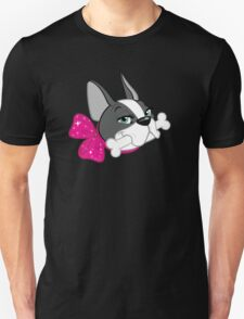 "French Bulldog ""Cherry"" Headshot Unisex T-Shirt"