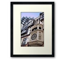 St George & the Dragon Clock Framed Print