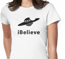 iBelieve (I want to believe) Womens Fitted T-Shirt
