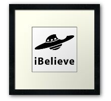 iBelieve (I want to believe) Framed Print