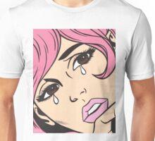 Pink Crying Comic Girl Unisex T-Shirt