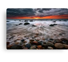 Clearing Storm At Montauk Point Canvas Print