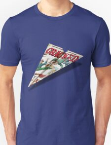 MAD Paper Airplane Cracked 112 Unisex T-Shirt