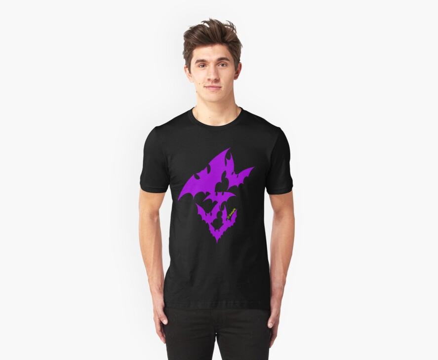 Going Batty (purple) by divinityINK